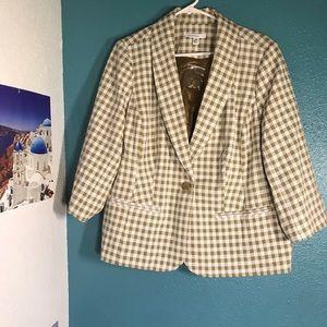 Isaac Mizrahi Live Checkered Blazer